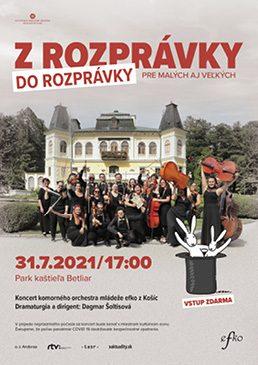 Z ROZPRÁVKY DO ROZPRÁVKY - koncert komorného orchestra mládeže Efko